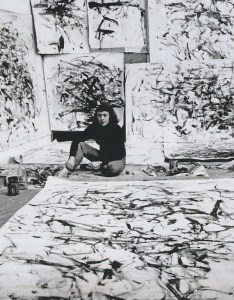 Loomis Dean, Joan Mitchell in her studio, Paris, 1957