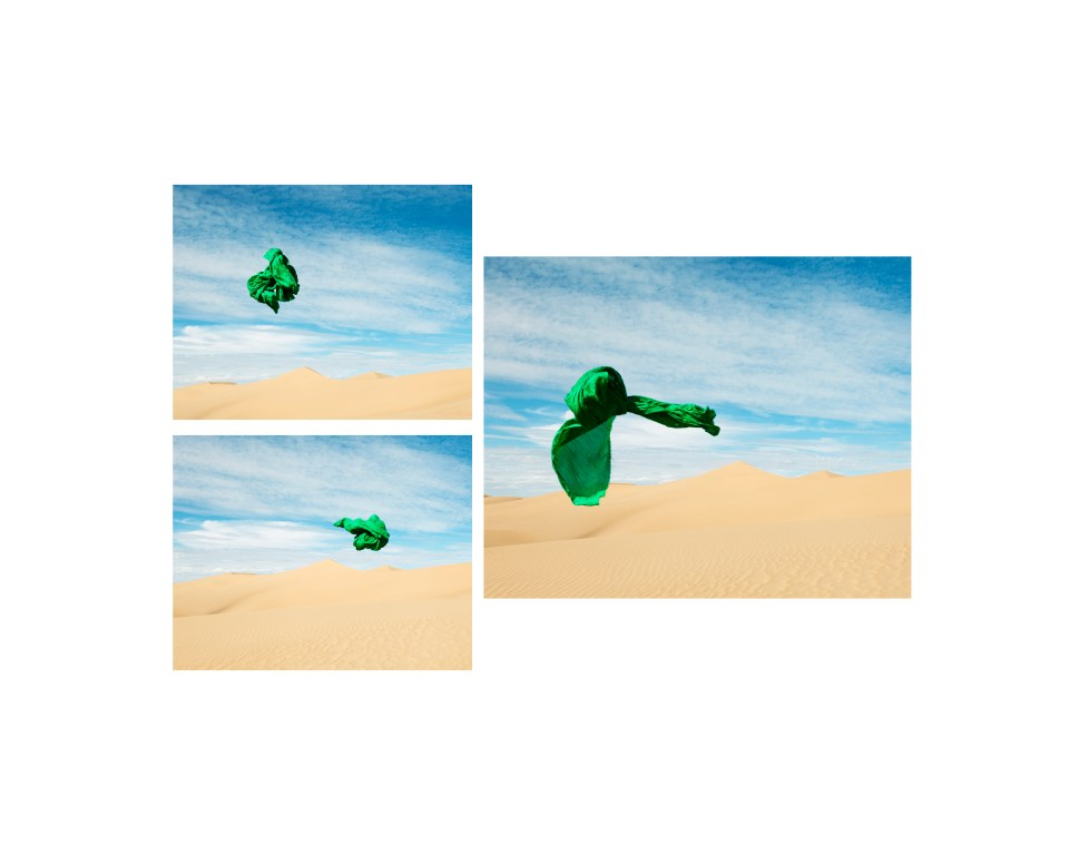 Dawit Petros, The Green March (Beyond the conclusive logic of monumentality), Tamougrite, Morocco, 2016, archival color pigment prints. Courtesy of artist and Tiwani Contemporary, London.