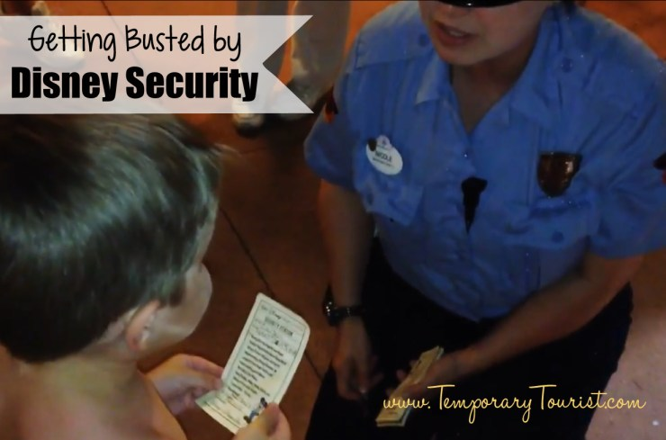 Toddler getting busted by Disney Security