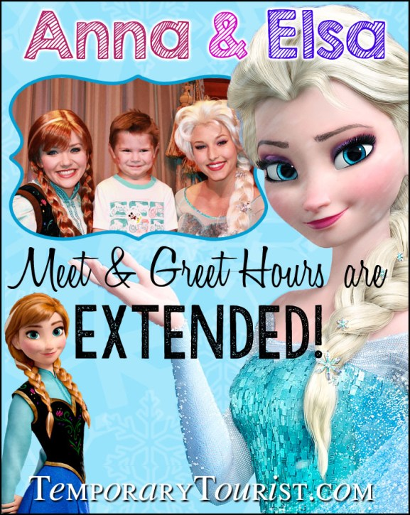 Anna and Elsa at Magic Kingdom hours have been extended #WDW #Frozen #WaltDisneyWorld #MagicKingdom