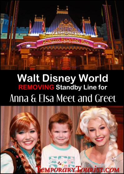 Disney World Removing Standby Line for Anna and Elsa Meet and Greet at Magic Kingdom