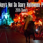Mickey's Not So Scary Halloween Party 2016 Dates