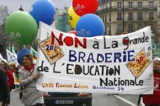 Une précédente manifestation d'enseignants