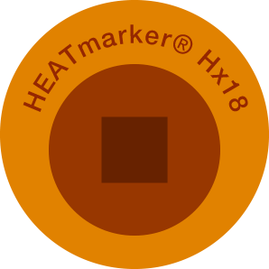 HEATmarker Hx18 after heat event