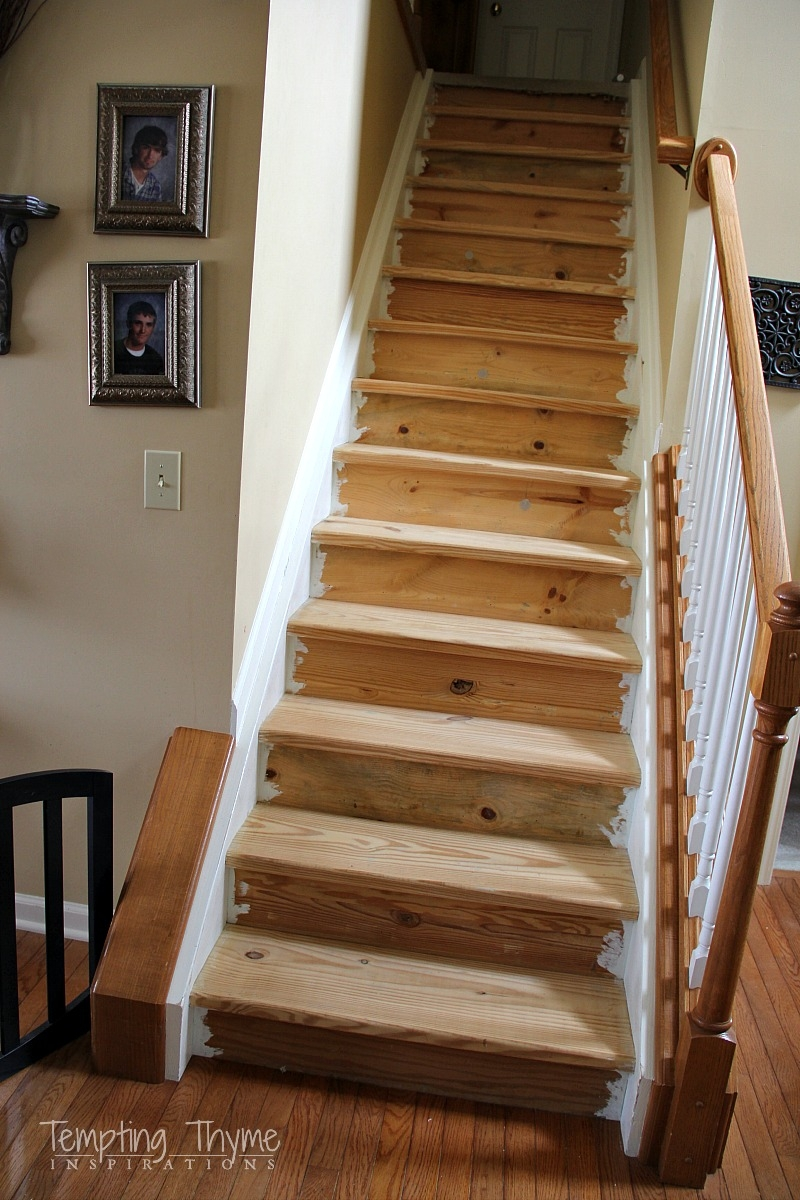 Stair Project Begins Removing The Carpet And Prepping The Wood | Cost Of Staining Stairs | Stair Railings | Hardwood | Stair Tread | Handrail | Basement Stairs