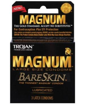 Trojan Magnum Bareskin Condoms - Pack of 3