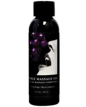 Earthly Body Edible Massage Oil - 2 oz Grape