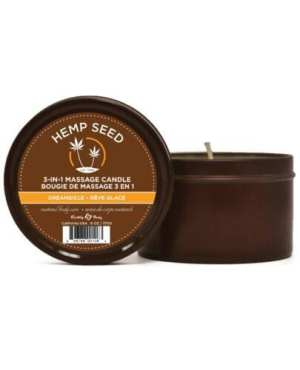 Earthly Body Suntouched Hemp Candle - 6.8 oz Round Tin Dreamsicle