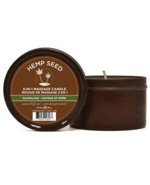 Earthly Body Suntouched Hemp Candle - 6.8 oz Round Tin Guavalava