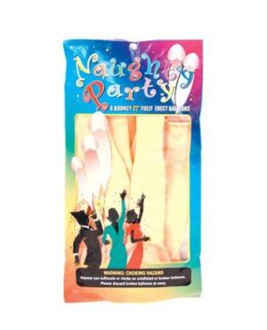 """Naughty Party 22"""" Penis Balloons - Flesh Pack of 8"""