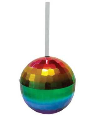 Rainbow Disco Ball Cup - 12 oz