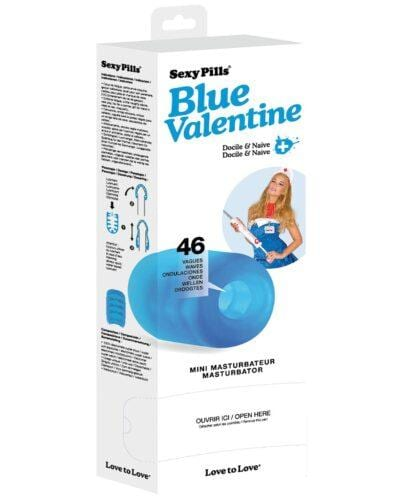 Love to Love Sexy Pills Mini Masturbator - Blue Valentine Box of 6