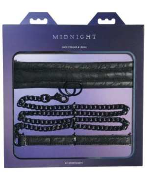 Midnight Lace Collar & Leash - Black