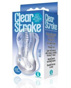 The 9's Clear Stroke Twister Masturbator