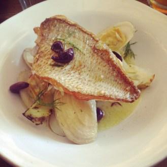 Snapper, tua tua clams, chargrilled fennel, gaeta olives