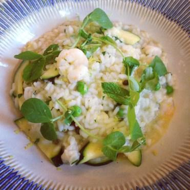 Primavera risotto with Spencer gulf prawns