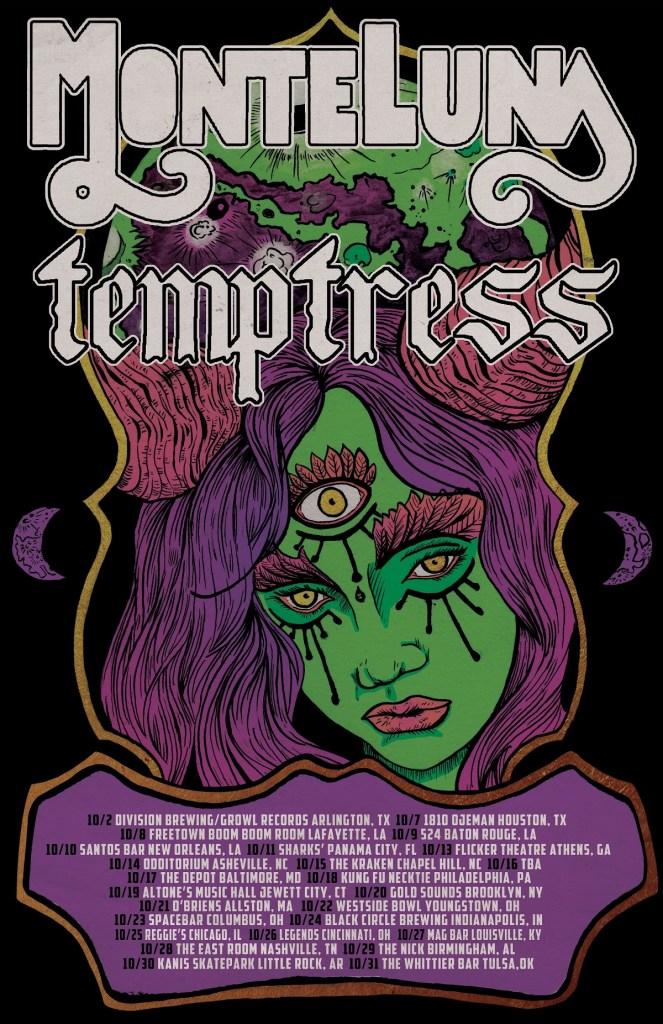 Monte Luna & Temptress Tour 2021 Poster