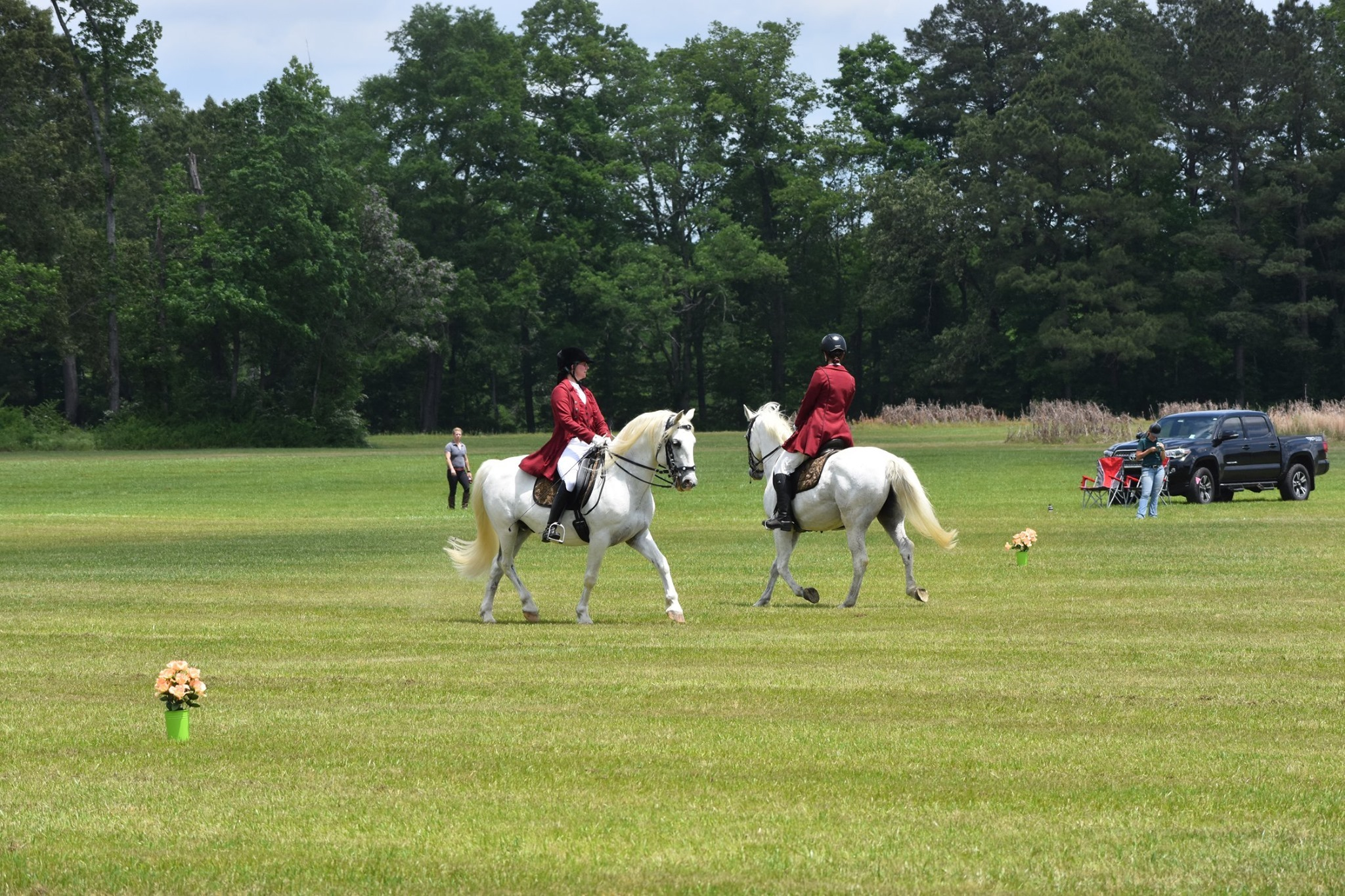 Lipizzan horses and riders perform at spring event