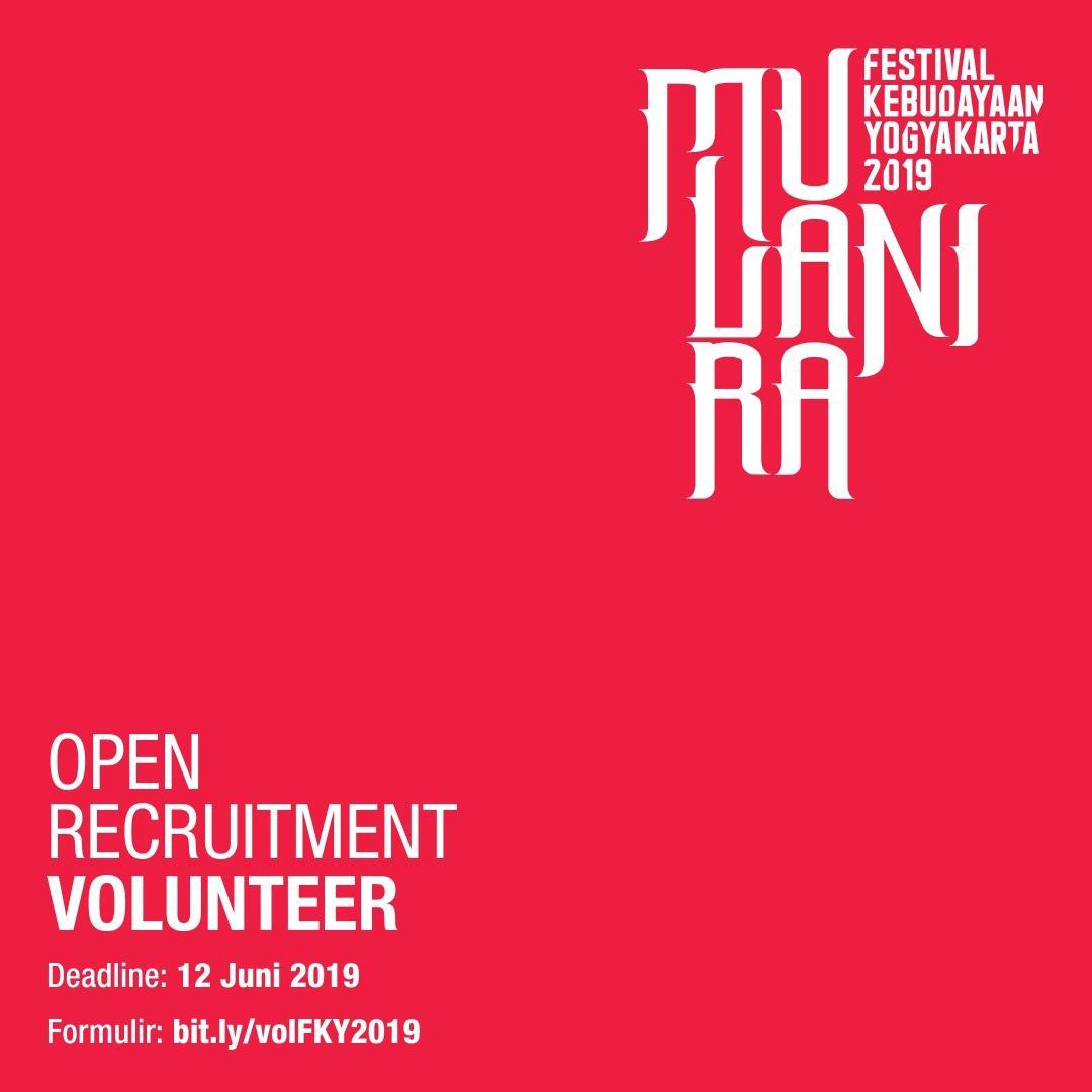 OPEN RECRUITMENT Volunteer Festival Kebudayaan Yogyakarta (FKY) 2019