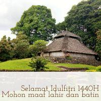 Masjid Bayan Beleq di Kartu Selamat Idulfitri 1440 H