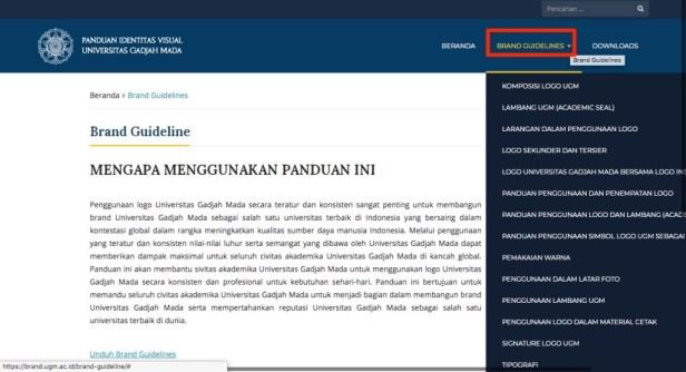 Brand Guideline UGM