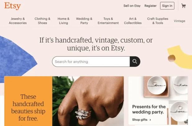 Etsy Online Shopping Site