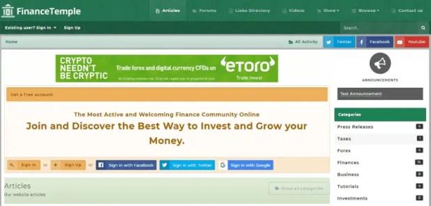 FinanceTemple - Financial Forum