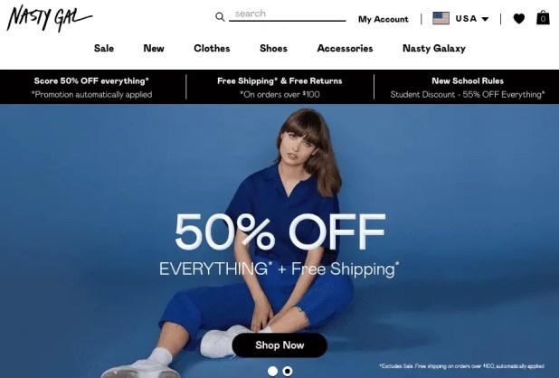 NastyGal - Online Shopping Site