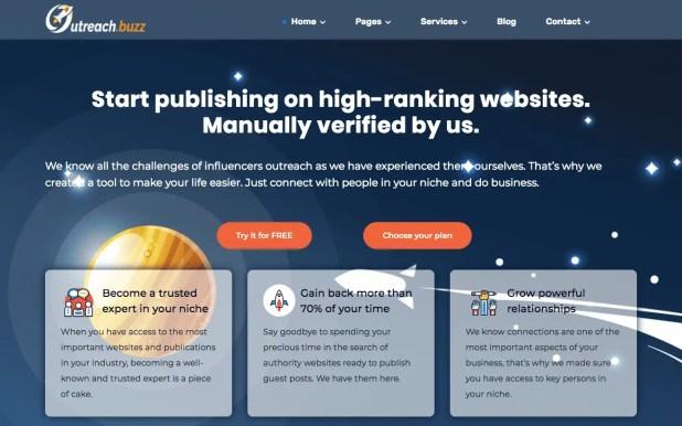 Good WebDesign: Outreach.Buzz