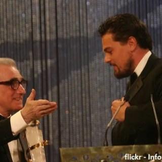 Leonardo DiCaprio congratulazioni a Martin Scorsese The Irishman