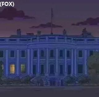washington i simpson previsione casa bianca al buio
