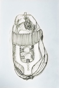 sketch of a kids shoe