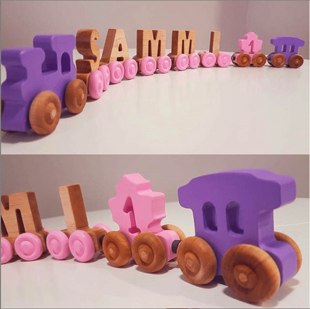 Wooden puzzle name spelling Sammi