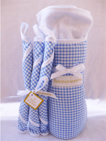 Blue bath time baby wrapper