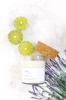 Calming soy candles