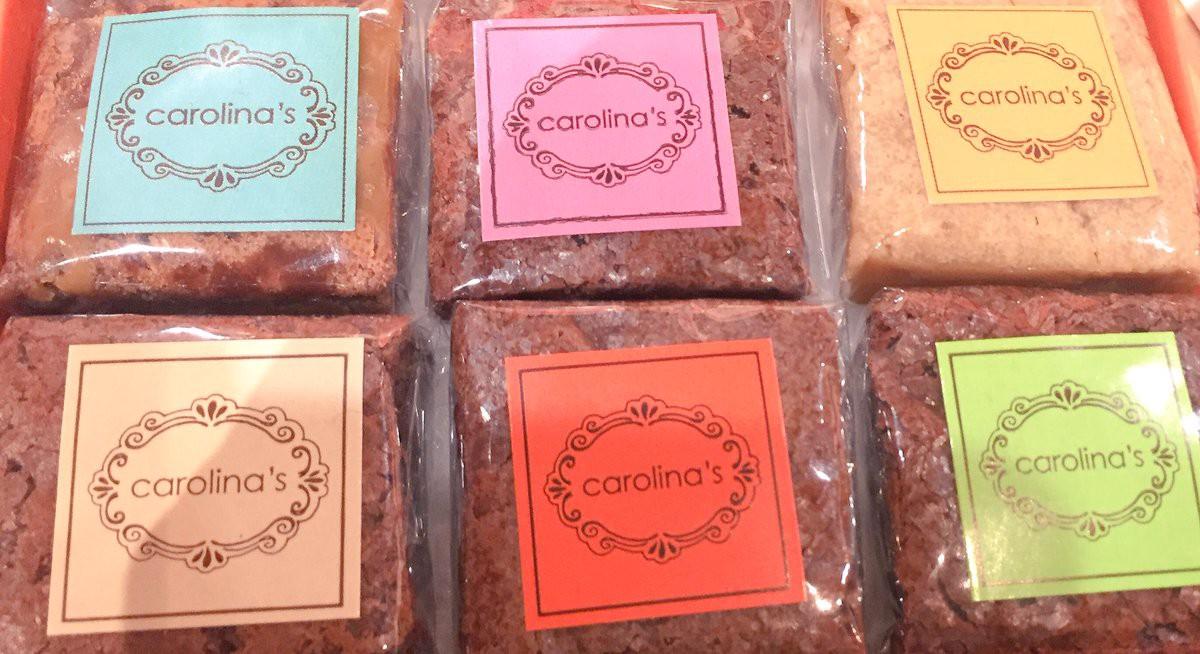 Beautiful bricks of Carolina's chocolate brownies