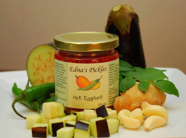 Hot eggplant artisan pickles