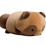 【ゆるい】もちっとぬいぐるみ 寝そべりタヌキ 「タヌキとキツネ」