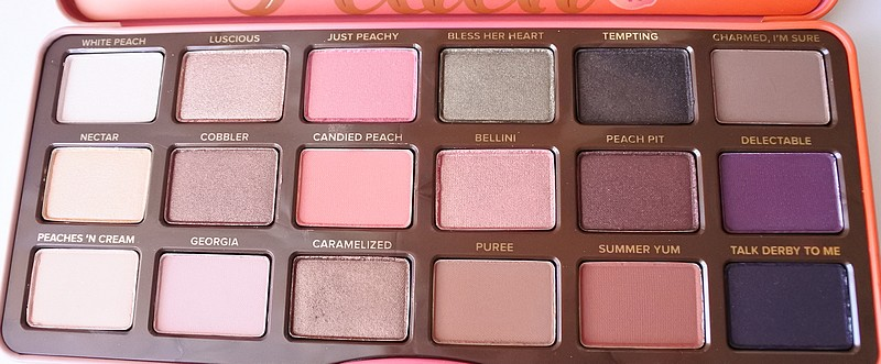 collection Peach Too Faced sweet peach tendance clemence