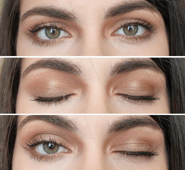 Tutoriel maquillage caramel irisé tendance clémence BLOG