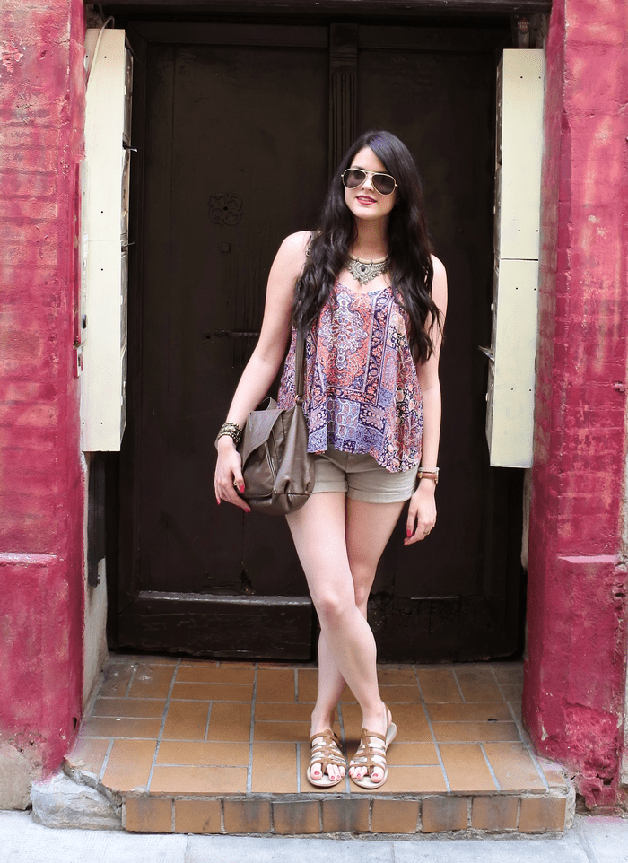 Look foulard et short tendance clémence blog mode toulouse