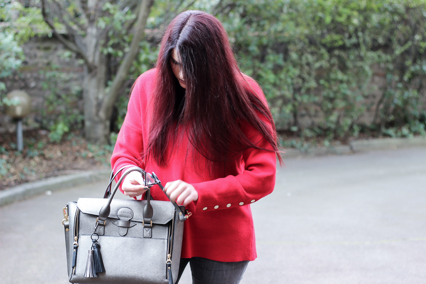 Look n°120 • Un pull rouge pour un style casual