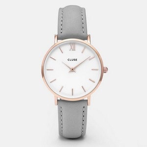 Montre Minuit Rose Gold White/Grey Cluse