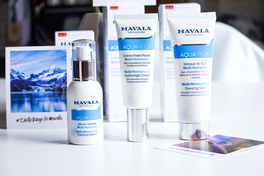 La gamme de soins Aqua Plus de Mavala
