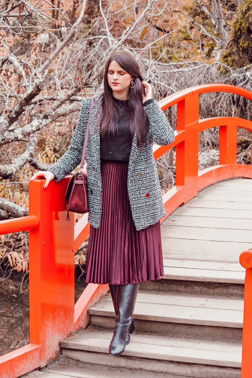 Look n°160 • Une jolie jupe plissée pour cet hiver