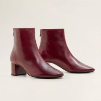 Bottines bordeaux Mango