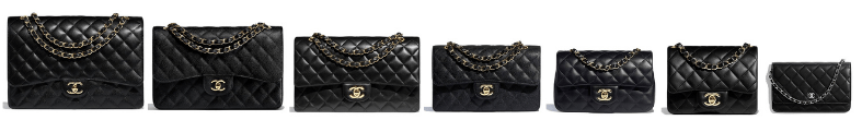 tailles sac timeless Chanel