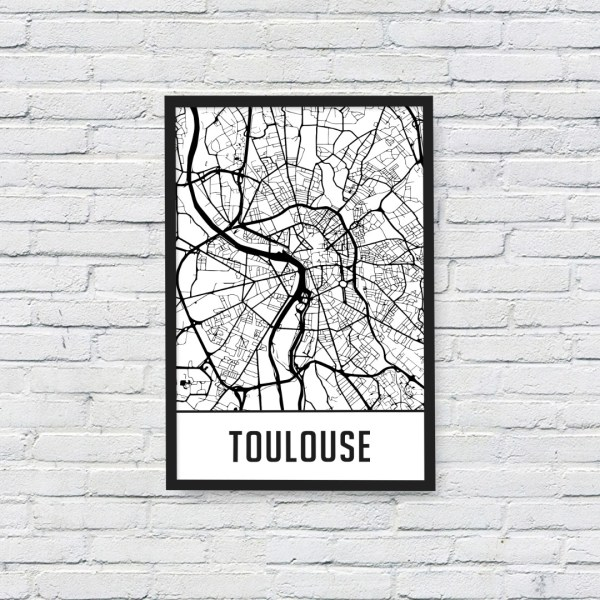 Cadre carte map toulouse