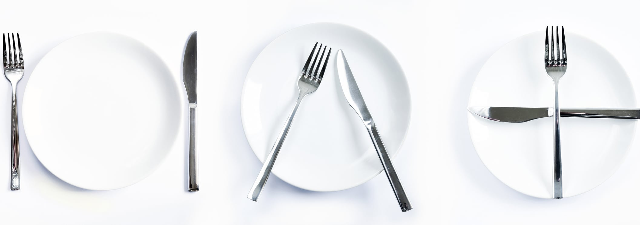 Dining etiquette, forks and knifes signals