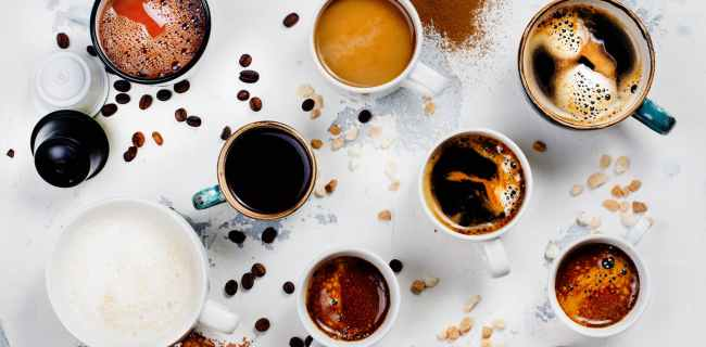 Diferentes tipos de preparaciones de café